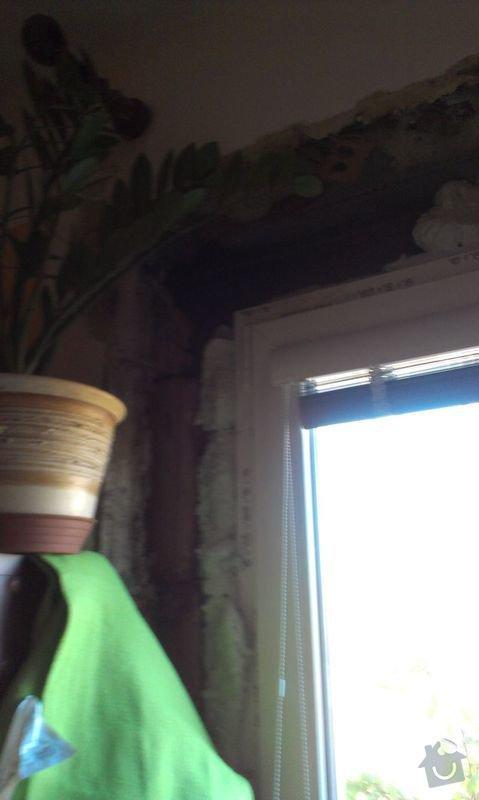 Zednické začištění špaletového okna: IMAG1008a