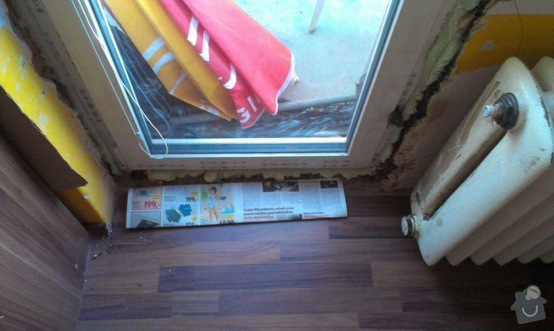Zednické začištění špaletového okna: IMAG1009a