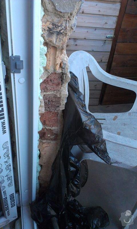 Zednické začištění špaletového okna: IMAG1010a