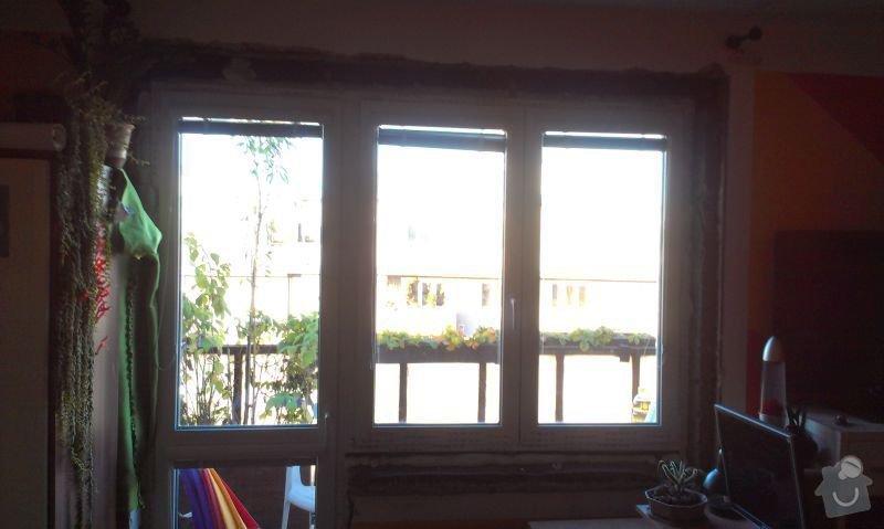 Zednické začištění špaletového okna: IMAG1012a