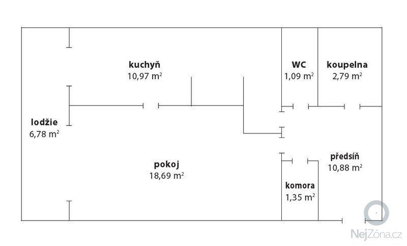 Rekonstrukce panelového bytu: 1_1_53_m