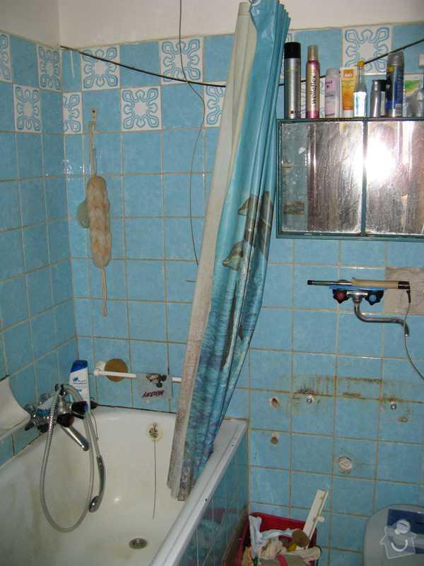 Celková rekonstrukce bytu: koupelna_pred