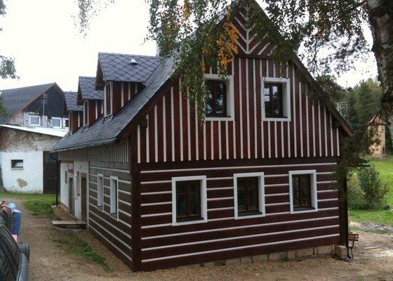 Dokončení rekonstrukce chalupy v Rynolticích (okr. Liberec)
