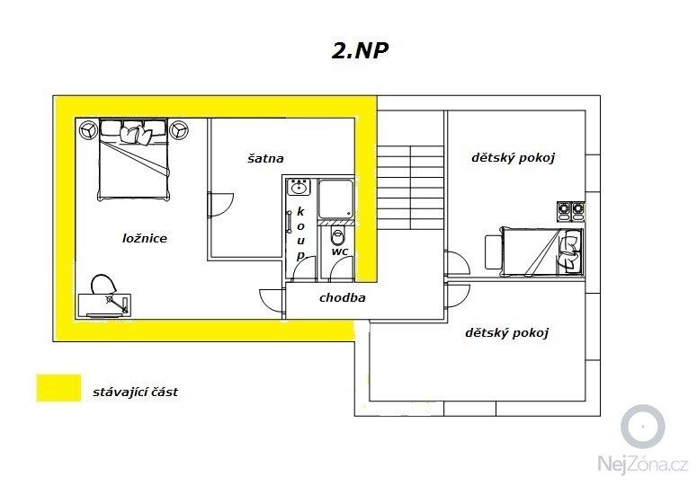 Přístavba RD: 2.np