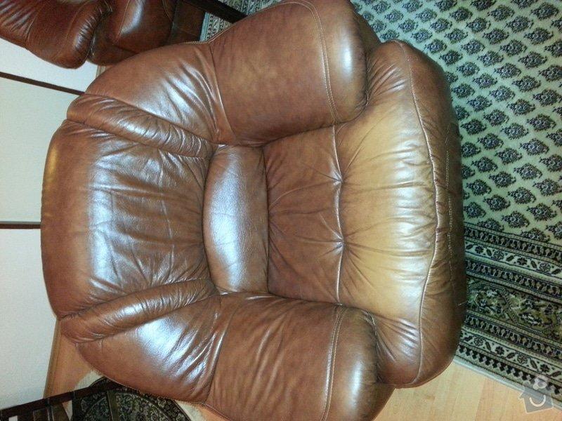 Kožená sedačka a křesla - renovace barvy: 20121104_202434