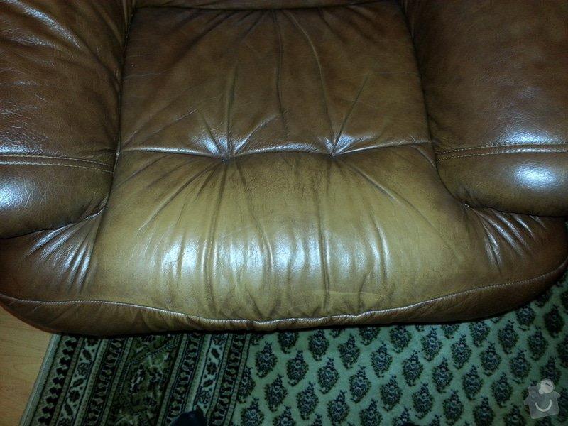Kožená sedačka a křesla - renovace barvy: 20121104_202444