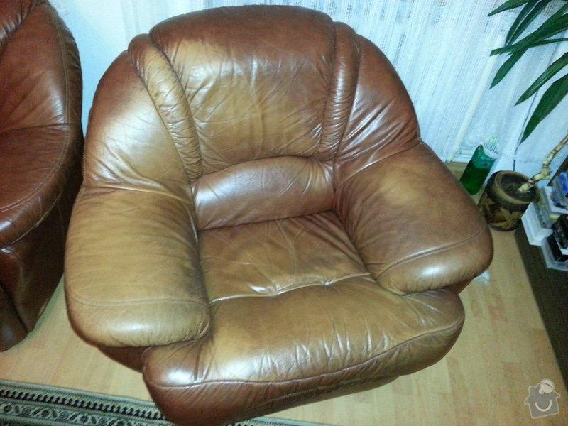 Kožená sedačka a křesla - renovace barvy: 20121104_202456