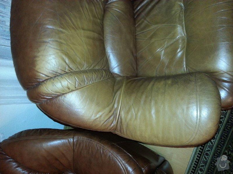 Kožená sedačka a křesla - renovace barvy: 20121104_202506