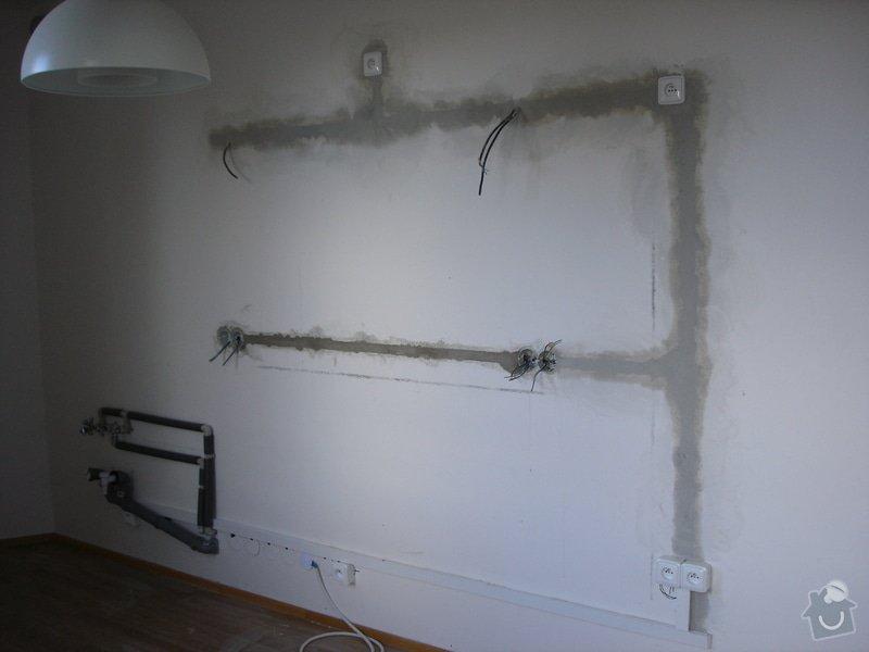 Úprava rozvodů zásuvek a vody - příprava instalace kuchyně: DSC03201
