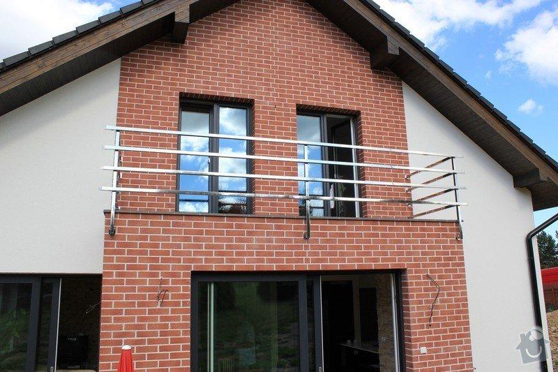 Balkónové zábradlí z nerezi a interiérové zábradlí: IMG_0530