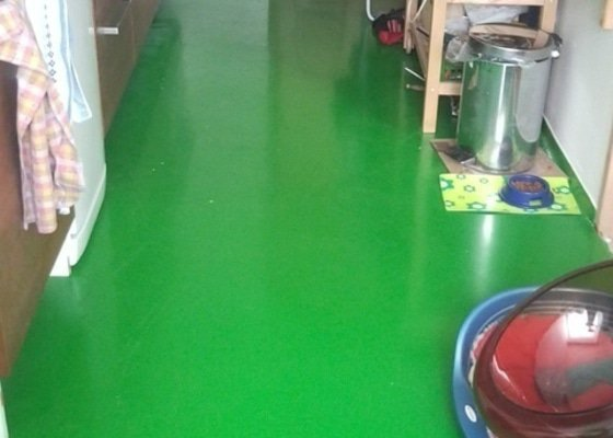 Podlahy v kuchyni a predsini