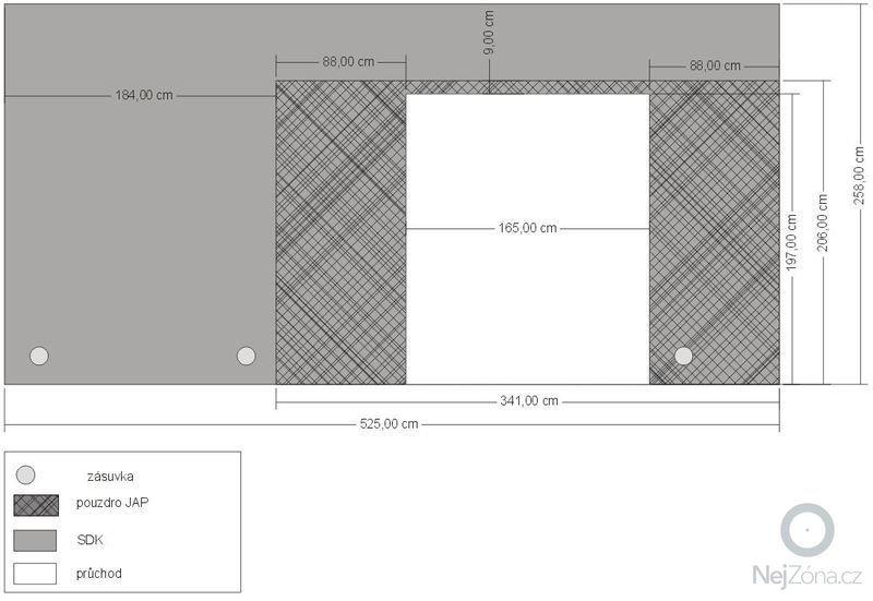 Interiérové práce - SDK příčka + dveřní pouzdro: SDK_pouzdro