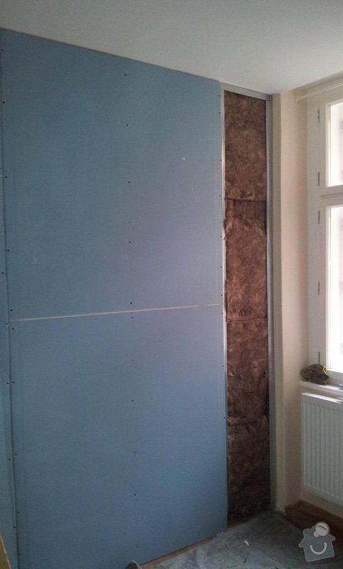 Odhlučnění stěny, malba, předělání elektro: 20121029_102137