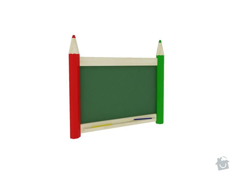 Vybavení dětského koutku: P1004-tabule
