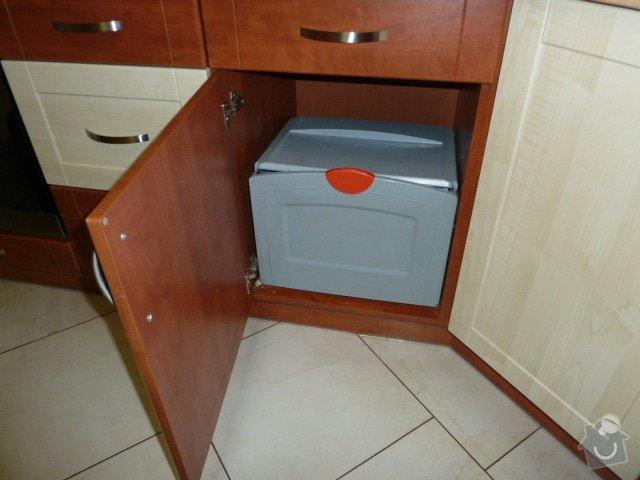 Magnetický výsuv odpadkového koše v kuchyni: P1060577