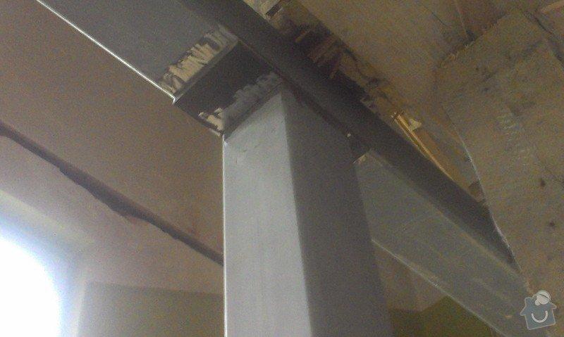 Svaření instalovaných jäklových nosníků: IMAG0029