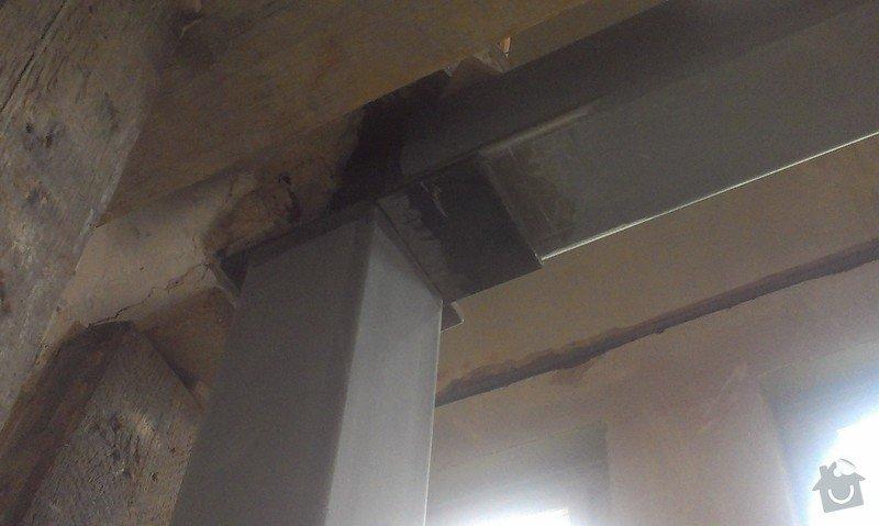 Svaření instalovaných jäklových nosníků: IMAG0028