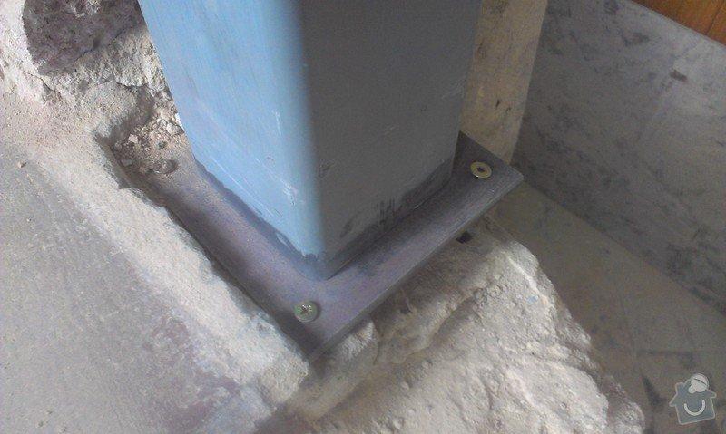 Svaření instalovaných jäklových nosníků: IMAG0007