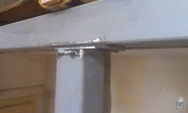 Svaření instalovaných jäklových nosníků: IMAG0006