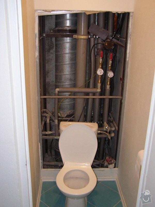 Dokončení rekonstrukce WC v bytě, instalace geberitu, obklady: PA080090