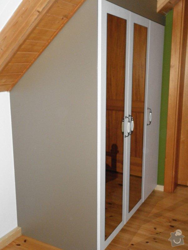 Realizace vestavných skříní v ložnici: 1