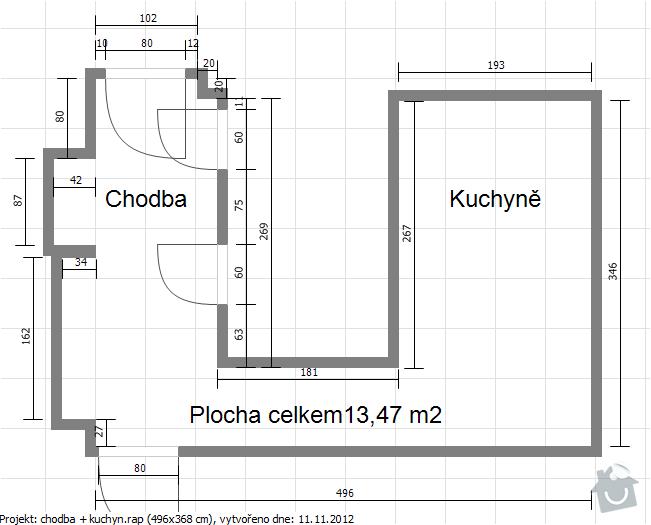 Pokládka podlahy a renovace parket: chodba_kuchyn
