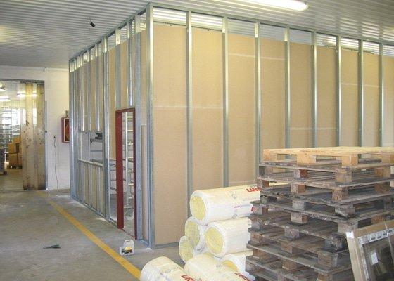 Montáže SDK příček, malby stěn, minerální podhledy a izolace