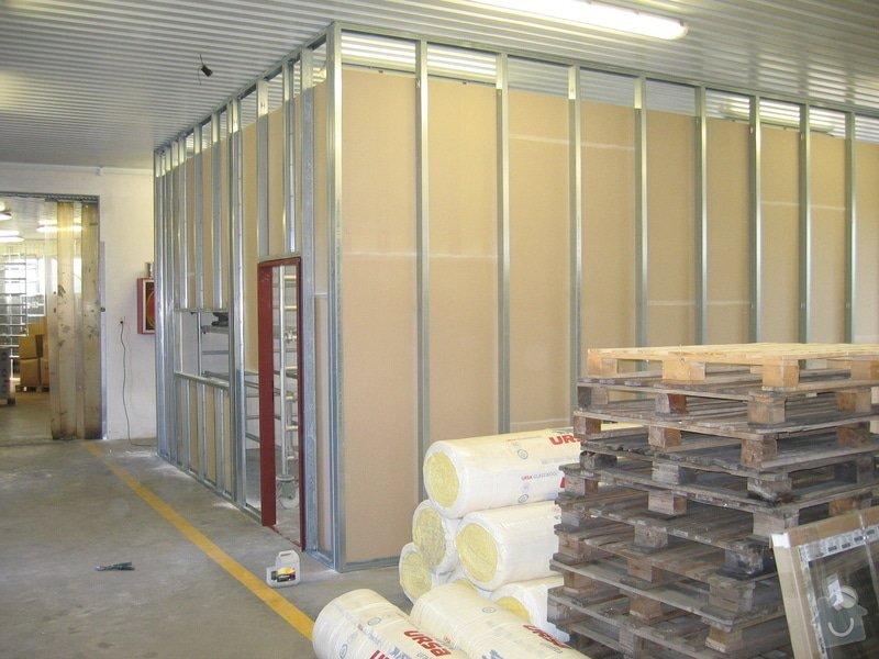 Montáže SDK příček, malby stěn, minerální podhledy a izolace: IMG_5522