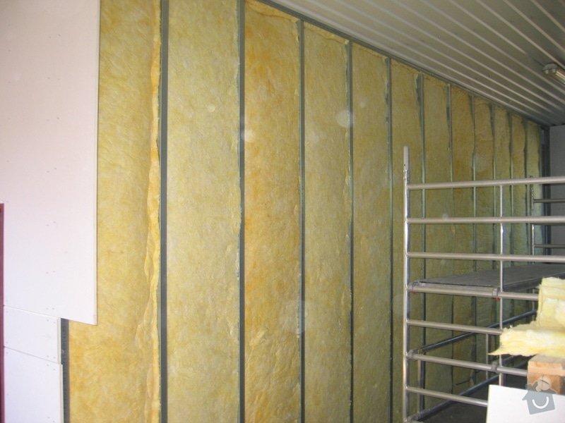 Montáže SDK příček, malby stěn, minerální podhledy a izolace: IMG_5533
