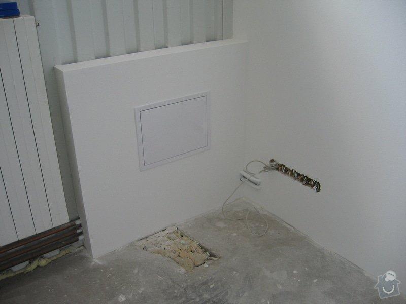 Montáže SDK příček, malby stěn, minerální podhledy a izolace: IMG_5547