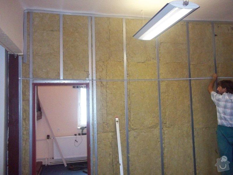 Montáže SDK příček, malby stěn, minerální podhledy a izolace : 100_4481