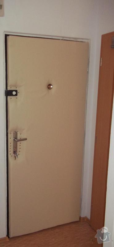 Rekonstrukce jádra panelového bytu, kuchyně, ložnice: Calouneni_dveri