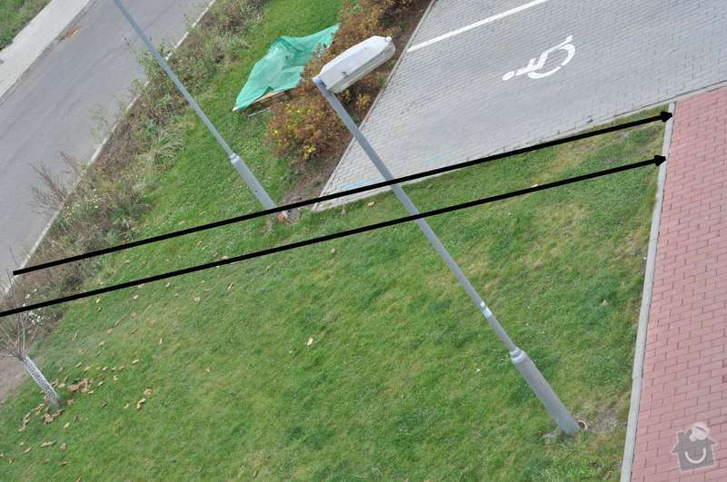 Oprava zamkové dlažby 54 m2, Nový chodník 10 m: chodnik