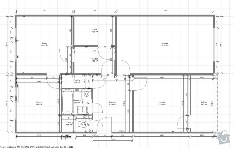 Kompletni rekonstrukce paneloveho jadra a kuchyne: Puvodni_stav