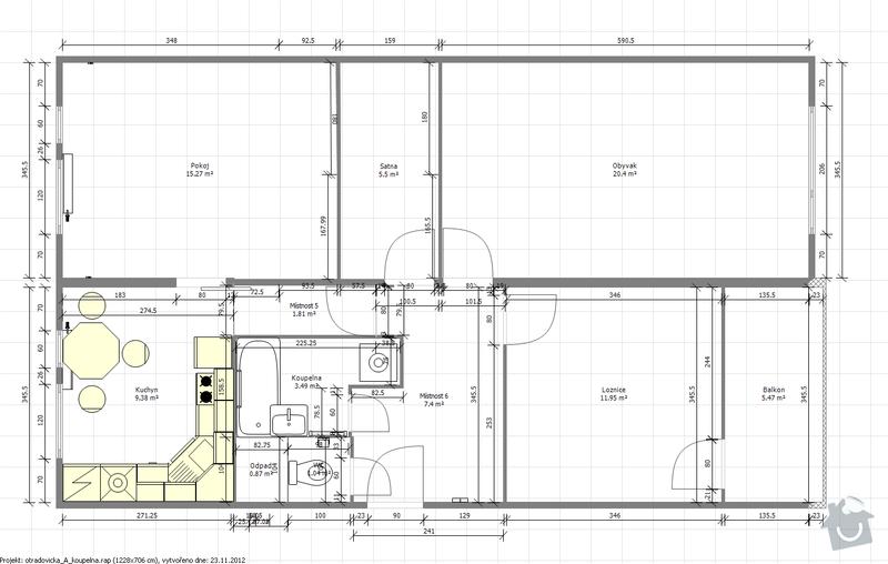 Kompletni rekonstrukce paneloveho jadra a kuchyne: Navrh_A