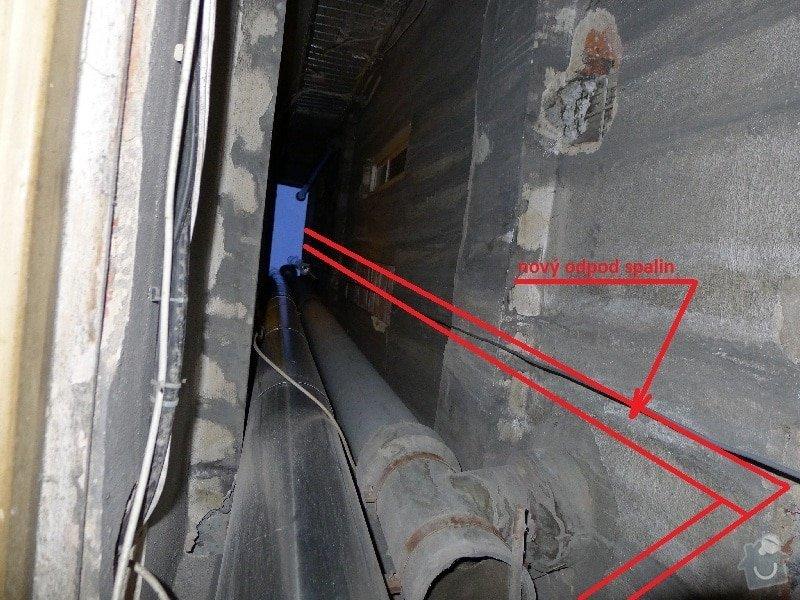 Výstavba spalinové cesty pro kondenzační kotel: Myslbekova_svetlik_pohled_2patro