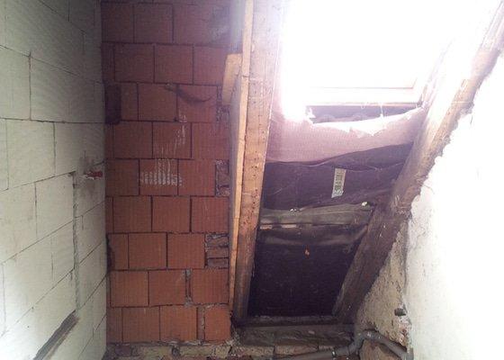 Montáže sádrokartonu v podkroví RD, suché podlahy Fermacell s podsypem, nové rozvody vody, odpadů, topení, nové rozvody elektro, zednické práce, úpravy krovů...