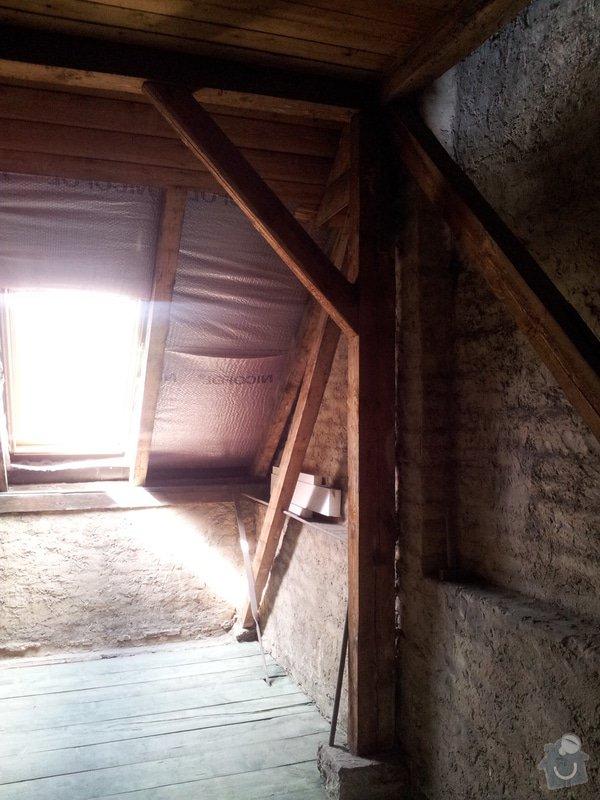 Montáže sádrokartonu v podkroví RD, suché podlahy Fermacell s podsypem, nové rozvody vody, odpadů, topení, nové rozvody elektro, zednické práce, úpravy krovů...: 04