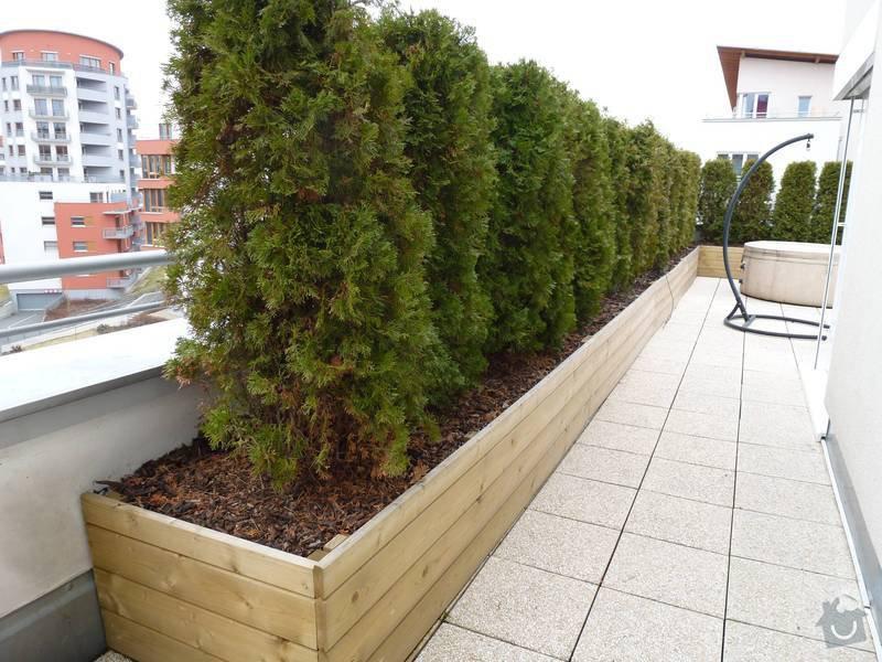 Realizace střesní zahrady: terasa2