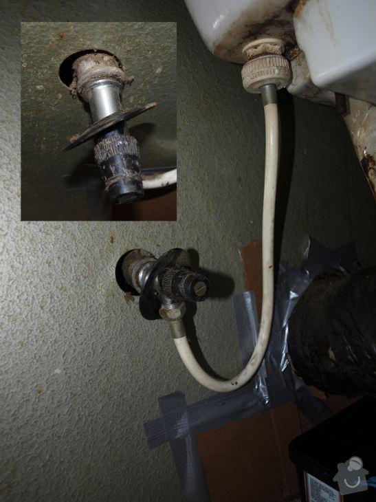 Instalatér, utěsnění odtoku ze záchoda, výměna přívodního kohoutu: ventil