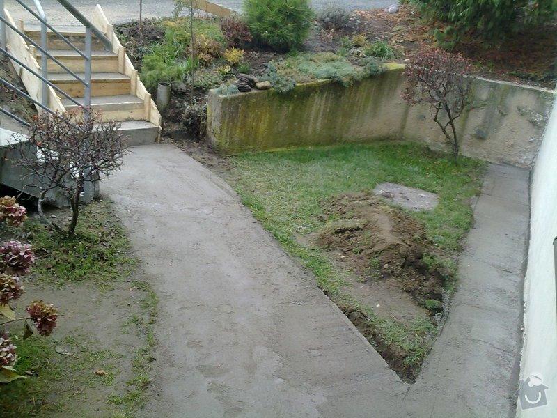Pokládka venkovní dlažby na beton - schody a chodníček (cca.19m2): 271120121697