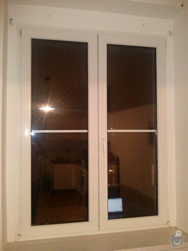 Horizontální žaluzie: okno1