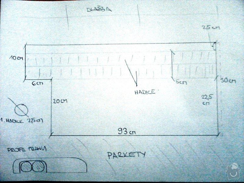 Výroba podlahového prahu na zakrytí hadic od myčky: P28-11-12_10-55
