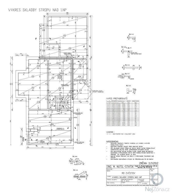 Statický posudek dokumentace pro stavební povolení: SKLADBAxSTROPUx1NPxZMENA-Model