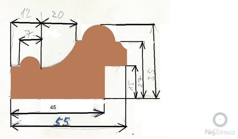 Frézování lišty 40x58mm: profil_ramu