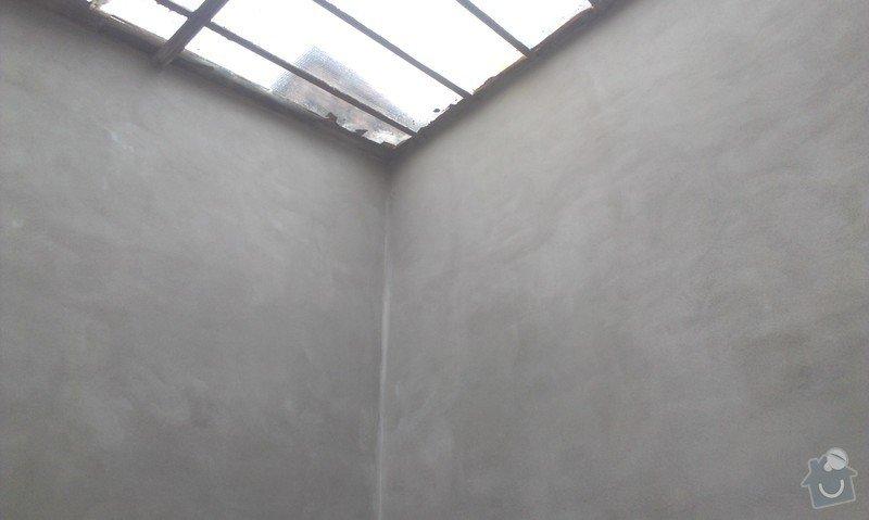 Zednické práce.4 stěny nová omítka: IMAG0354
