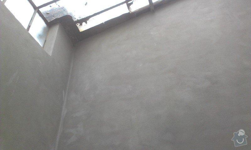 Zednické práce.4 stěny nová omítka: IMAG0356