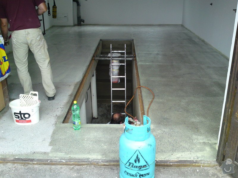 Renovace garáže, fasáda garáže - p.Ježek, Sázava: SE_905_-_17.7.2010_033