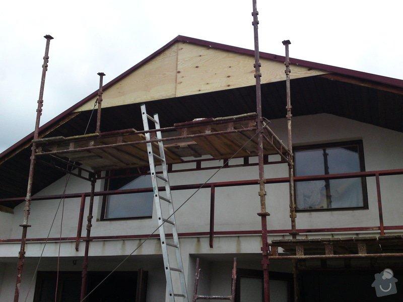 Renovace garáže, fasáda garáže - p.Ježek, Sázava: SE_905_-_17.7.2010_034