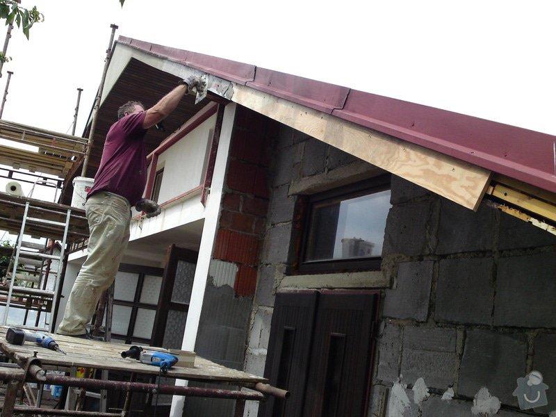 Renovace garáže, fasáda garáže - p.Ježek, Sázava: SE_905_-_17.7.2010_039